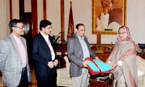 BASIC Bank blanket donated to PM's relief fund Pic