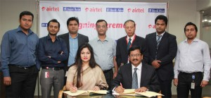 Airtel signs contract with Bank Asia