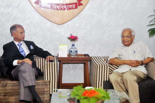 Prof Dr Pranab K Sen of the North Carolina University, USA called on Dhaka University Vice-Chancellor Prof Dr AAMS Arefin Siddique on Thursday at the latter's office.