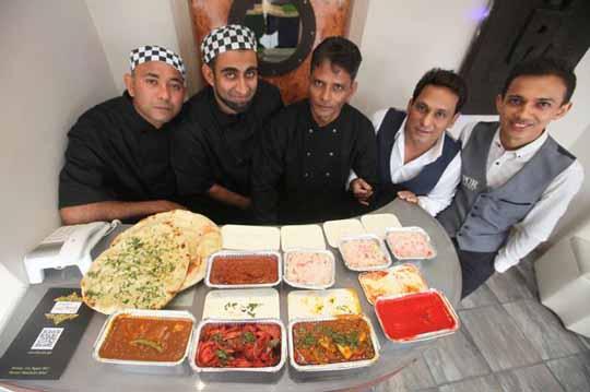 Staff at the Jaipur Takeaway in Denton Burn, Curry Awards winners