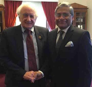 HE Ambassador Ziauddin with Congressman Sander M  Levin