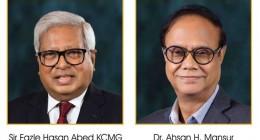 Sir Fazle Hasan Abed and Dr. Ahsan H. Mansur